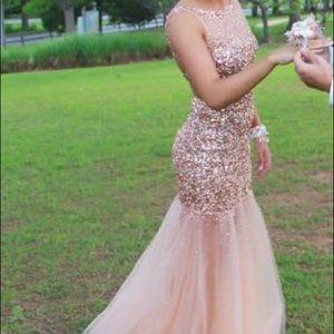 Jovani Prom Dress- ROSE GOLD- size 2